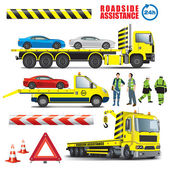 Roadside assistance — Stock Vector
