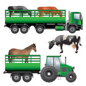 Animal transportation — Stock Vector