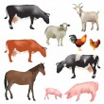 Farm animals — Stock Vector #55306429