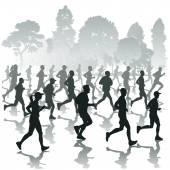 Running people — Stock Vector