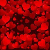 Rode harten achtergrond — Stockvector