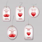 Valentine's sales tags — Stock Vector