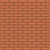 Red brick wall — Stock Vector