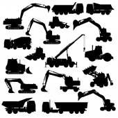 Set van bouwmachines — Stockvector