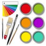Paint cans color palette — Stock Vector #67308719