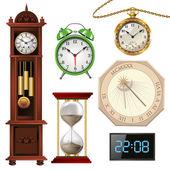 Olika typer av klockor — Stockvektor