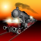 Night train — Stock Vector
