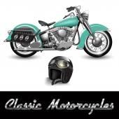 Moto classica — Vettoriale Stock