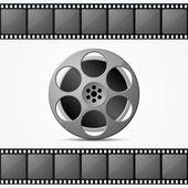 Movie film reel — Stock Vector