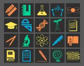 Scientific research icons — Stock Vector