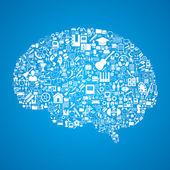 Information in the brain — Stock Vector