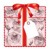 подарочная карта с розами — Стоковое фото