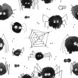 Pattern with halloween's spider theme — Stock Photo #66982177