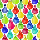 Pattern of light bulbs on a white background — Stockfoto