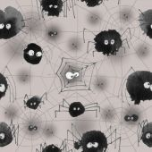 Pattern with halloween's spider theme — Stock Photo