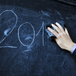 The student writes on a board - 2014 — Stock Photo #60131449