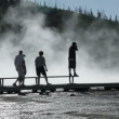 Tourists by  Grand Prismatic Spring — Stock Video #56858199