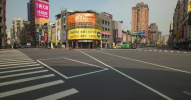 Busy intersection in Taipei, Taiwan. — Stok video