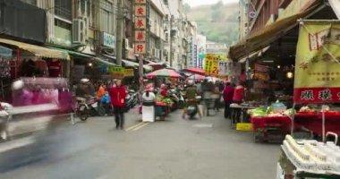 Taiwan of an Asian street market — Vídeo stock