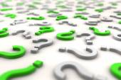 3D question marks over white background - shot 3 — Stock Photo