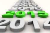 Render of the new year 2015 in green — Stock Photo