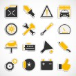 Car Service Icons - Yellow — Stock Photo #53091609