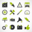 Car Service Icons - Green — Stock Photo #53091703