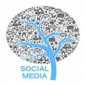 Tree Of  Social Media Symbols — Stock Photo