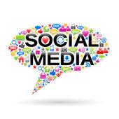 Speech Bubble Of Social Media Icons — Stock Photo