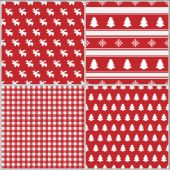 Set Of Christmas Seamless Pattern 2 — Stock Photo