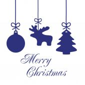 Christmas Ornaments Card 5 — Stockfoto