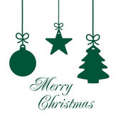 Christmas Ornaments Card 3 — Stockfoto