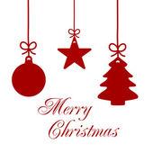 Christmas Ornaments Card 1 — Stock Photo