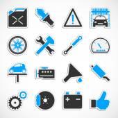 Car Service Icons - Blue — Stock Photo