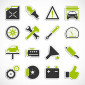 Car Service Icons - Green — Stock Photo