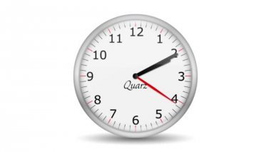 VID - Clock Change Getting One Hour — Vídeo Stock