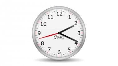 Vid - zegar - 12 godzin — Wideo stockowe