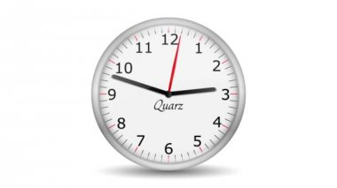 VID - Clock Change Skipping Hour — Video Stock