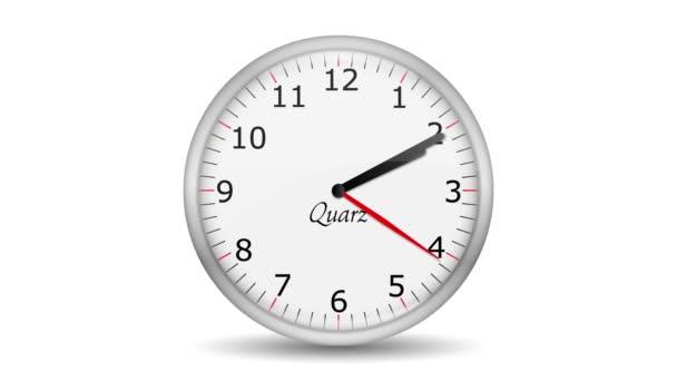 Vid - reloj cambia a una hora — Vídeo de stock