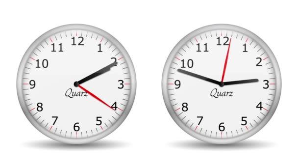 Vid - cambiando el invierno - verano - relojes — Vídeo de stock