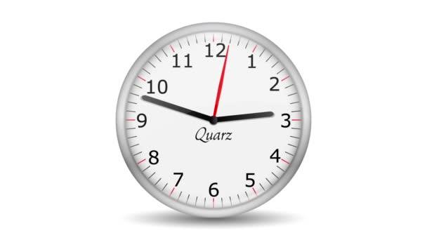 Vid - reloj cambiar hora rayado — Vídeo de stock