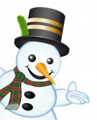 Snowman - Showing Hand — Foto Stock