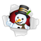 Thumb up snowman — Stockfoto