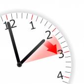 Clock Change Skipping Hour — Stock Photo