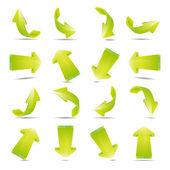 Illustration of green arrows — Photo