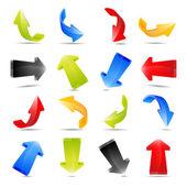 Illustration des flèches colorées — Photo