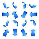 Illustration of blue arrows — Photo