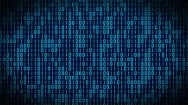 VID - binary code - blue — Stock Video