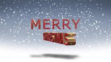VID - 3D - Merry Christmas - Happy New Year — Stock Video