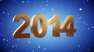 VID - Here Comes The New Year 2015 - Blue — Stock Video